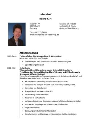 lebenslauf nanny kim publikationen - Publikationen Im Lebenslauf